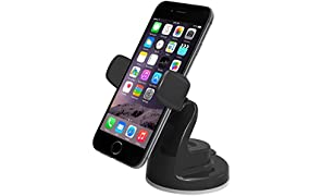 iOttie Easy View 2 Car Mount Holder for iPhone 7 7 Plus, 6s Plus 6s 5s 5c, Samsung Galaxy S8 S7 Edge Plus S7 S6, Note 5 -Retail Packaging -Black