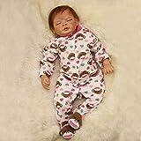 Nicery Reborn Baby Doll Puppe Weich Simulation Silikon Vinyl 22 Zoll 55 cm Magnetisch Mund lebensecht lebhaft für 3 Jahre alt 3+ Vivid Boy Girl Junge Mädchen Spielzeug SH55C501C-OTD