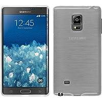 PhoneNatic Custodia Samsung Galaxy Note Edge Cover bianco brushed Galaxy Note Edge in silicone + pellicola protettiva