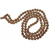 ARIHANT GEMS & JEWELS Non-Precious Metal Rudraksha 5 Mukhi RUDRAKSHA JAAP MALA for Pooja, Astrology (109 Beads)
