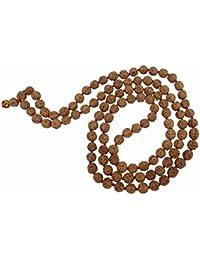 Rudraksha 5 Mukhi RUDRAKSHA JAAP MALA for Pooja (Astrology) (108+1 Beads) 100% Original and Certified by Arihant Gems and Jewels