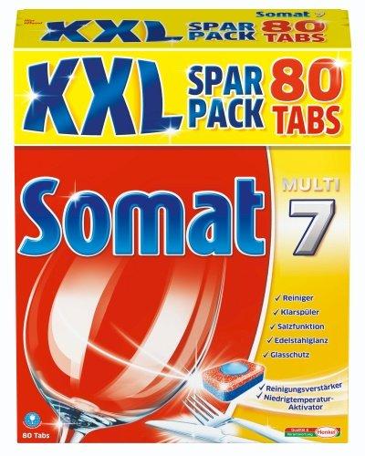 Somat 7  Tabs, Geschirrspültabs, XXL Spar Pack, 80 Tabs