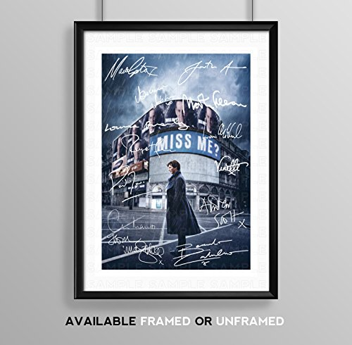 Sherlock Full Cast Signed Autograph Signature A4 Poster Photo Print Photograph Artwork Wall Art Picture Present Birthday Xmas Christmas Memorabilia Gift BBC Benedict Cumberbatch Martin Freeman (POSTER ONLY)