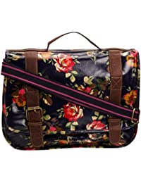 SwankySwans Blair Roses Print Laminate, Girls' Satchel