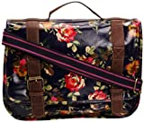 SwankySwans Blair Roses Print Laminate, Girls Satchel, Navy Blue, One Size