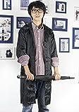 ZEVONDA Herren Mode Regenmantel Long Jacket Freizeit Ultra Dünn Regenjacken Regen Poncho, Blau, Eine Größe