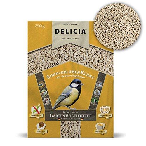 Delicia schalenfrei Doublure Hiver pour oiseaux sauvages, tournesol 750 g