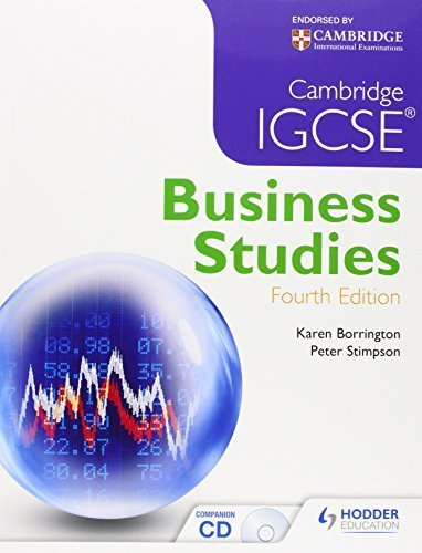 Cambridge Igcse Business Studies 4 Pap/Cdr edition by Borrington, Karen, Stimpson, Peter (2013) Paperback
