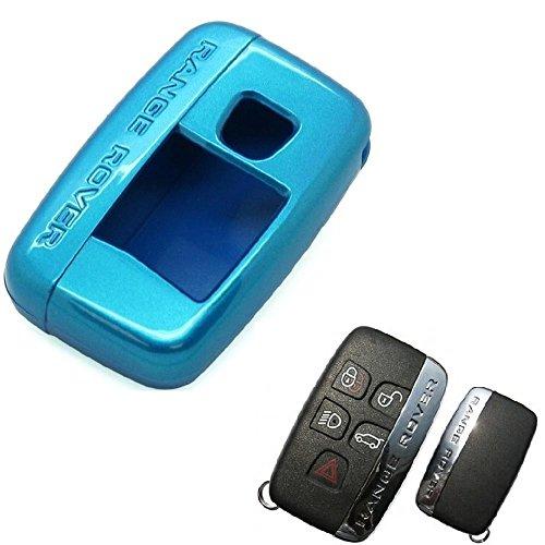 art Kunststoff 2Stück Schutzhülle für neue 5-BUTTON Smart Schlüsselanhänger Displayschutzfolie Fall Range Rover Evoque Discovery Freelander Sport Server 2014201520162017(blau) (2014 Range Rover Auto)