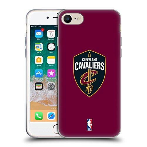 7c1430267 Head Case Designs Officiel NBA Plaine Cleveland Cavaliers Étui Coque en Gel  Molle pour iPhone 7