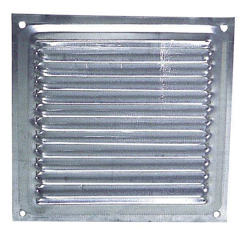 Wolfpack 2530004 Grille de ventilation à visser, aluminium, 20 x 20 cm