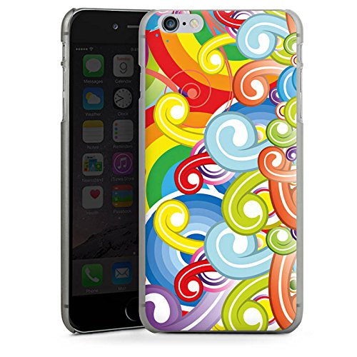 Apple iPhone 5s Housse Étui Protection Coque Psycho Cercles couleurs CasDur anthracite clair