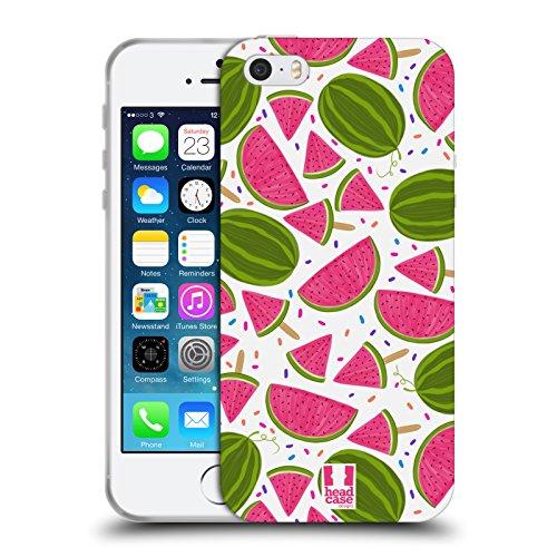 Head Case Designs Ananas Stampe Frutta Cover Morbida In Gel Per Apple iPhone 7 Plus / 8 Plus Cocomero