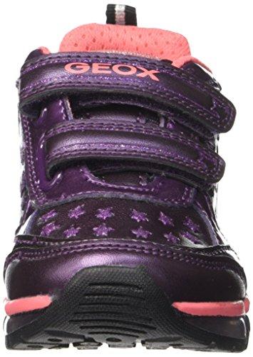Geox J Android Girl A, Scarpe da Ginnastica Basse Bambina Violett (Prunec8017)