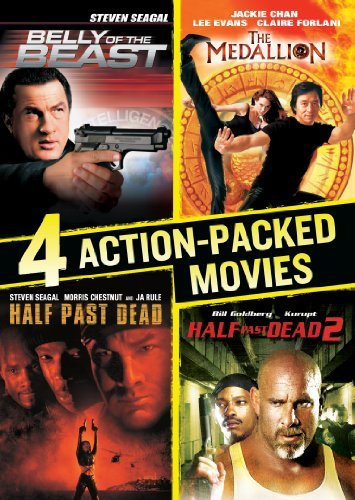 4 Action-Packed Movies Collection (Belly of the Beast / Half Past Dead / Half Past Dead 2 / The Medallion) by Steven Seagal -