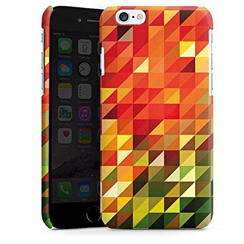 Apple iPhone 6 Housse Étui Silicone Coque Protection Cristaux Automne Abstrait Cas Premium brillant