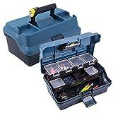 Angelkoffer mit integrierter Beleuchtung, Maße: 325 x 200 x 165 mm, blau