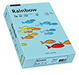 Papyrus 88042722 Drucker-/Kopierpapier farbig: Rainbow 120 g/m², A4 250 Blatt Buntpapier, Matt, Mittelblau