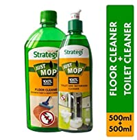 Herbal Strategi Floor Cleaner and Disinfectent 500ml, Toilet Cleaner 500ml (Pack of 2)