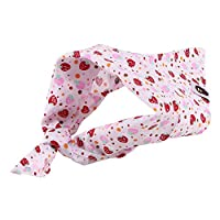 OurLeeme Adjustable Pet Dog Puppy Cat Neck Scarf Tie Necktie Bandana Collar Neckerchief Dog Accessories (#C-Red Strawberry)