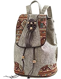 GMS467 Las Mujeres De La Vendimia Niñas Étnico Tribal Shoulder Bag Mochila  Bordada Retro 47800d543d2