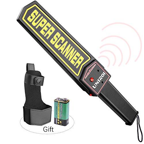 UNIROI Escáner de Seguridad Portátil con Batería de 9V Funda de Cinturón,Sensibilidad Ajustable, Modos Opcionales de Sonido y Vibración para...