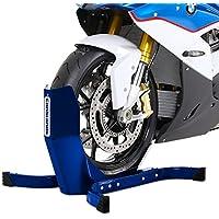 Béquille cale de roue pour Harley Davidson Sportster 883 Iron (XL 883 N) Constands Easy Plus bleu