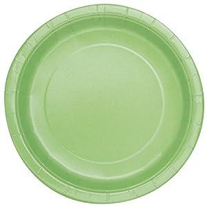 Partido Ênico 18 cm placas de Apple del Partido Verde (paquete de 8)
