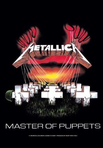 Metallica - Master of Puppets - Bandiera Poster 100% poliestere - dimensioni 75 x 110 cm