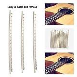 20 Stücke Gitarre Fret Drähte, 2,0mm Weiß Kupfer Fretwire Gitarre Ersatz Ersatzteile für Folk Wooden Guitars