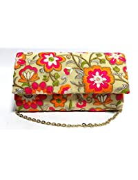 Arisha Kreation Co Multicolor Embroidery Casual And Formal Clutch
