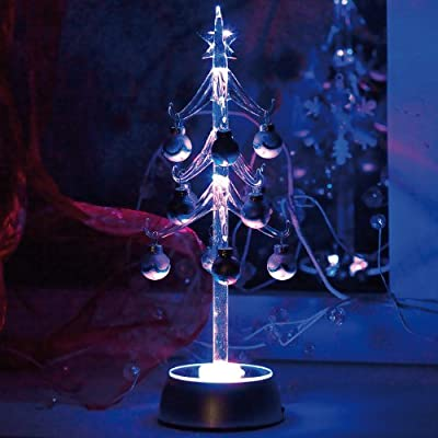 Deko-Glasbaum mit wunderschönem LED-Farbspiel von Lunartec auf Lampenhans.de