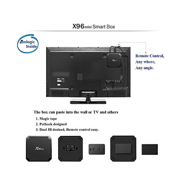 LESHP-X96-Mini-Smart-Android-712-TV-Box-avec-1-Go-RAM-8-Go-ROM-Amlogic-s905-W-Quad-Core-ARM-Cortex-A53-Proz-intrieur-avec-BT-41-soutien-2-K-4-K-WiFi-24-GHz-Media-Player