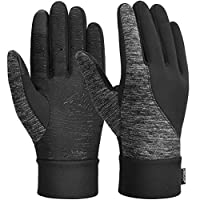 VBIGER Unisex Running Gloves Touch Screen Winter Gloves Anti-slip Warm Sports Gloves, L