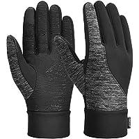 VBIGER Guanti invernali spessi Guanti touch screen Guanti freddi con polsino elastico antiscivolo in silicone, nero