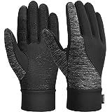 VBIGER Guanti invernali addensati Touch Screen Guanti guanti da freddo con silicone antiscivolo e polsino elastico, nero, L