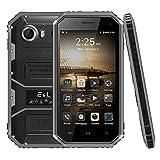 E & L W6 IP68 Imperméable anti poussière antichoc 4.5 pouces Android 6.0 Smartphone MTK6735 Quad Core 1.3GHz 1 Go RAM 8 Go ROM 4.5 '' Dual Sim 2600mAh 4G Téléphone mobile (Noir)