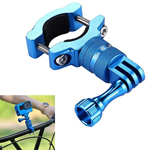 Joint Victory 360 Degree Rotation Bike Handlebar Clip Bicycle Adapter Mount with Screw for GoPro HERO6/5/4/3+/3/2/1 Session5/4, Xiaoyi Sport Camera (Blau) Pole Mount Adapter Kit