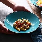 Große Ramen Suppe Nudeln Pasta Schüssel Obstsalat Mischen servieren Schüssel Ofen Mikrowelle sicher kreative Keramik Geschirr 9 Zoll blau