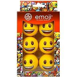 Emoji Unisex paquete de 6caras sonrientes diseño divertido pelotas de golf, multicolor
