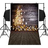 Iuhan Hintergrund für Weihnachts-Fotografie, für Kinder und Erwachsene, Weihnachtsbaum, Schneemann, Schneeflocke, Kranz, Hintergrund, Vinyl, 3x5FT, a, As The Picture Shows