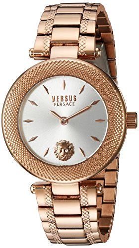 Versus by Versace Women's 'VERSUS BRICK LANE' Quartz Stainless Steel Casual Watch, Color:Rose Gold-Toned (Model: S71060016)