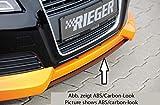 Rieger Spoilerschwert schwarz matt mittig für Spoilerlippe 56760 für Audi A3 (8P): 07.08- (ab Facelift)