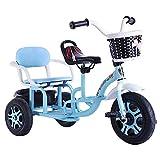 YQWE Doppio Foglio Che può Portare Un Popolo Triciclo per i Bambini l'infanzia Triciclo Bicicletta Tandem Multi-Funzionali, i Bambini in Bicicletta Passeggino reclinabile Portatile 1-3-5-2-6 Anni