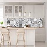 Cuadros adhesivos para pared- 30 unidades de imitación de azulejos de cemento de20x 20cm.