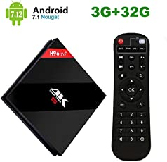 H96 Pro Plus Android 7.1 TV Box 3 GB RAM + 32 GB ROM, Amlogic 912 Octo-Core 64 Bits Smart TV Box, Unterstützung Dual WiFi 2,4 GHz / 5 GHz / Bluetooth 4.1
