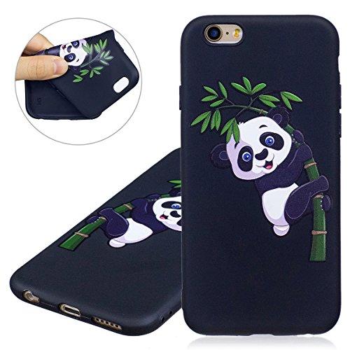 """Coque iPhone 6, Étui iPhone 6S, ISAKEN Coque pour Apple iPhone 6(4.7"""") - Étui Housse Téléphone Étui TPU Silicone Souple Coque Ultra Mince Gel Doux Housse Motif Arrière Case Antichoc Doux Durable Résis bambou panda"""
