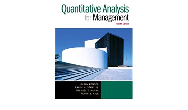 Buy Quantitative Analysis For Management Book Online At Low Prices
