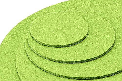 Untersetzer Glasuntersetzer Tischset Scheibe rund 100% Merino Filz 3mm Ø 20 cm (mai grün) - 3