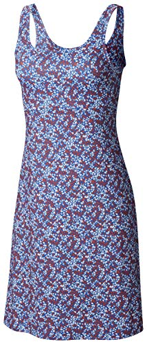 Columbia Damen Freezer Iii Kleid, Damen, Freezer III Dress, Vivid Blue Liberty Floral Print, X-Small -